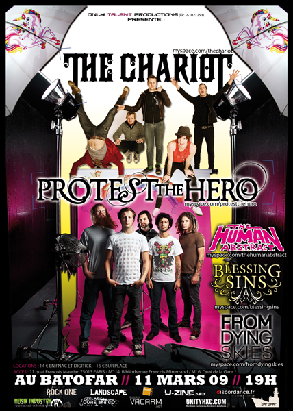 PROTEST THE HERO + THE CHARIOT + THE HUMAN ABSTRACT @ PARIS ONLYTALENT_11mars_web